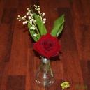 Ampoule de Muguet et rose