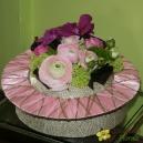 Artifloral rose et fushia