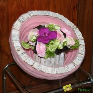 Cocon fleuri pastel
