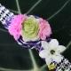 Bracelet strass et fleurs