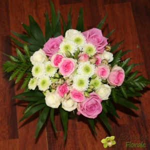 Bouquet demoiselle rose et vert