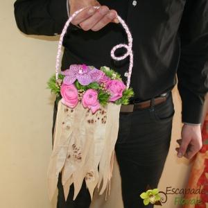 Sac à main fleuri
