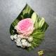 Boutonnière rose pastel