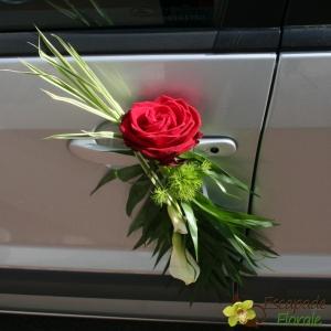 Noeud de portière Rose rouge