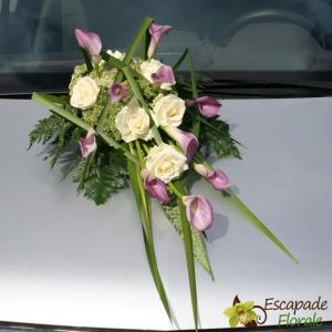 Dessus de capot Callas et Roses