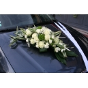 Dessus de capot Roses blanches