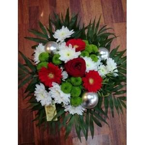 bouquet de noel blanc et rouge