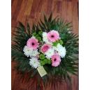bouquet de noel blanc et rose