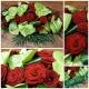 coussin rouge escapade florale