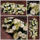 coussin blanc escapade florale