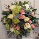 Bouquet libre rose et blanc