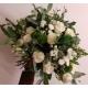 Bouquet libre blanc et vert