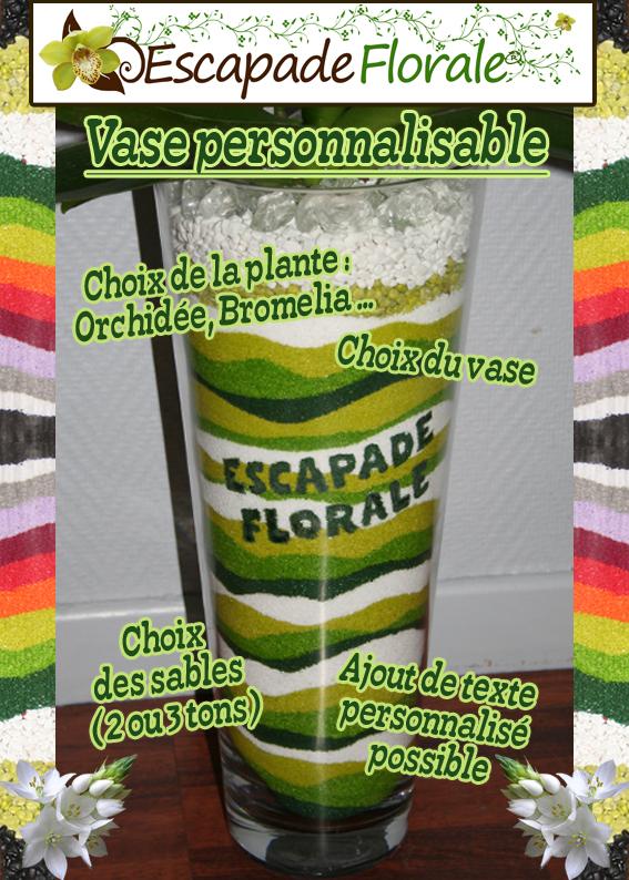 Vase personnalisable chez Escapade Florale