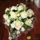 Romantisme blanc perlé noir - bouquet de mariée