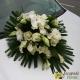 Dessus de capot blanc et vert Orchidée