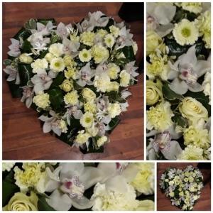 Coeur d' orchidées (Coussin)