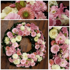 couronne XXL rose