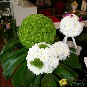 Boules fleuries Deco de table